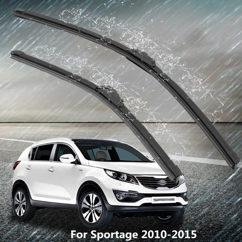 Windscreen Wipers & Windows - 2x Front Windscreen 24\'\' 18\'\' Flat Aero Wiper Blades For Kia Sportage 2010-2015 - Car Replacement Parts