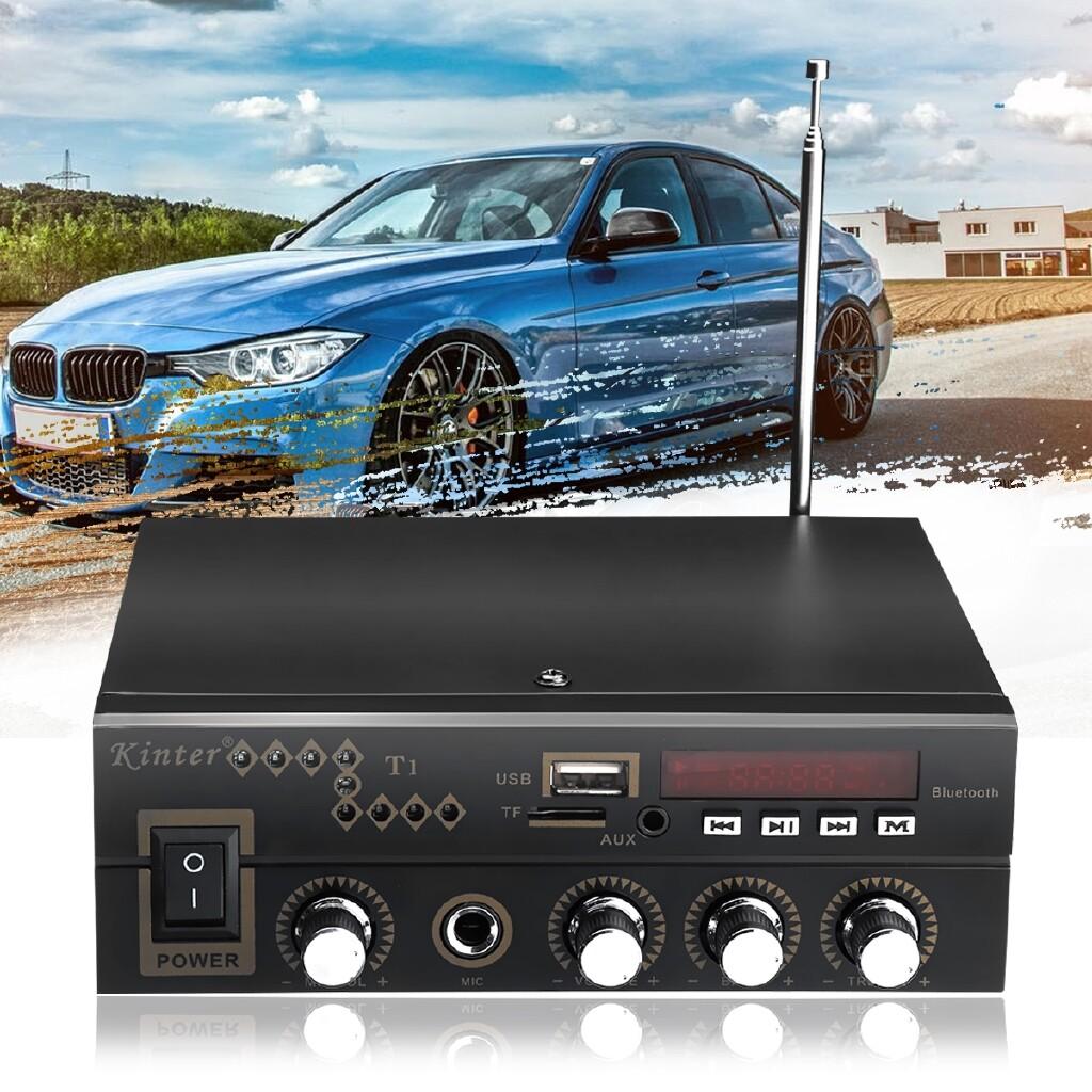 Car Electronics - 600W BLUETOOTH HiFi Power Amplifier Pro Stereo Surround Home Karaoke 220V/12V - Automotive