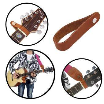 Cek Harga Acoustic Electric Guitar Strap Woven Cloth Leather End