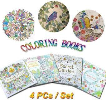 Children Adult Coloring Books Painting Books Secret Garden An Inky Treasure Hunt