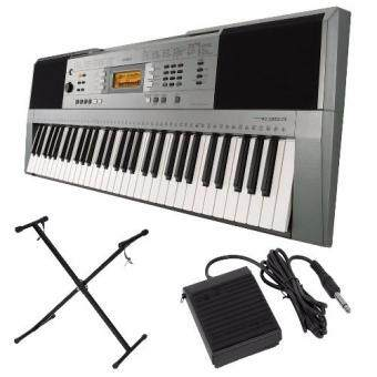Harga Yamaha Digital Music Keyboard PSR-E353 + Keyboard Stand + Sustain Pedal + Music Book Rest