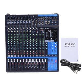 Harga ammoon MG16XU 16-Channel 6-Bus Mic Line Audio Digital Mixer Mixing Console 3-band EQ with Built-in Effects USB Interface Outdoorfree