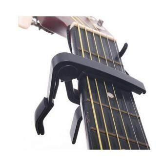 Harga Quick Change Clamp Key Capo for Acoustic Electric Guitar (Black)
