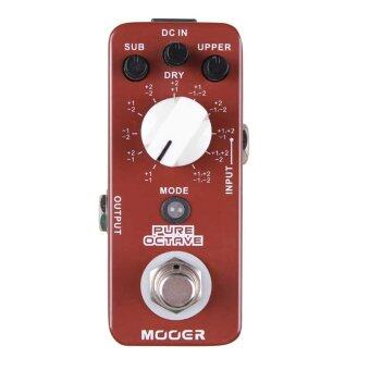 Harga MOOER Pure Octave Electric Guitar Pedal 11 Different Octave True Bypass