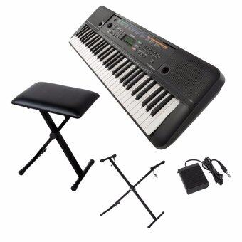 Harga Yamaha Digital Music Keyboard PSR-E253 + Keyboard Stand + Sustain Pedal + Keyboard Bench Stool + Music Book Rest