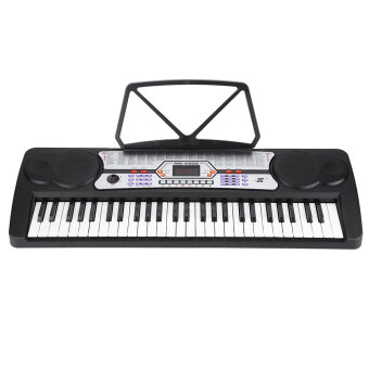 Harga 54 Keys LED Display Digital Electronic Music Keyboard Electric Piano Organ with Sheet Music Holder Microphone