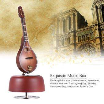 Harga Classical Wind Up Mandolin Music Box Rotating Musical Base Instrument Miniature Artware with Case for Birthday/Valentine/Mother's Day/Father's Day Gift