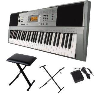 Harga Yamaha Digital Music Keyboard PSR-E353 + Keyboard Stand + Sustain Pedal + Keyboard Bench Stool + Music Book Rest