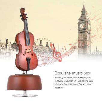 Harga Classical Wind Up Cello Music Box with Rotating Musical Base Instrument Miniature Artware Gift Outdoorfree