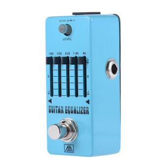 Harga AROMA AEG-5 5-Band Graphic EQ Guitar Equalizer Effect Pedal Aluminum Alloy Body True Bypass