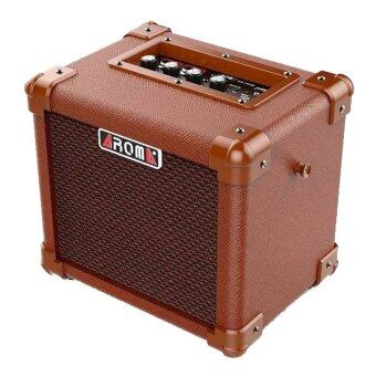 Harga Aroma AG-10 AM Acoustic Amplifier for Guitar, Ukulele and Vocal mic 10W (Rechargeable & Portable)