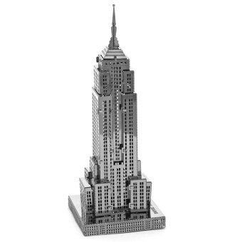 Harga Empire State Building 3D Metallic Nano Puzzle DIY Assembling Toy (Silver)--TC