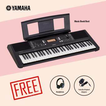 Yamaha Digital Music Keyboard PSR-E363 + Headphone + Music Book Rest