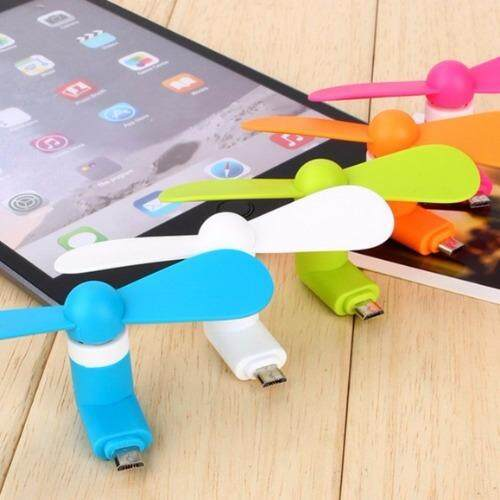 (10 pcs mix color lot) Portable Micro USB Mini Fan For Android Phone