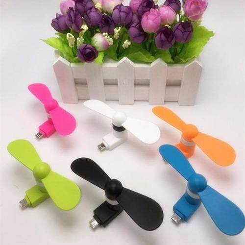 (10 pcs mix color lot) Portable Micro USB Mini Fan For Android Phone