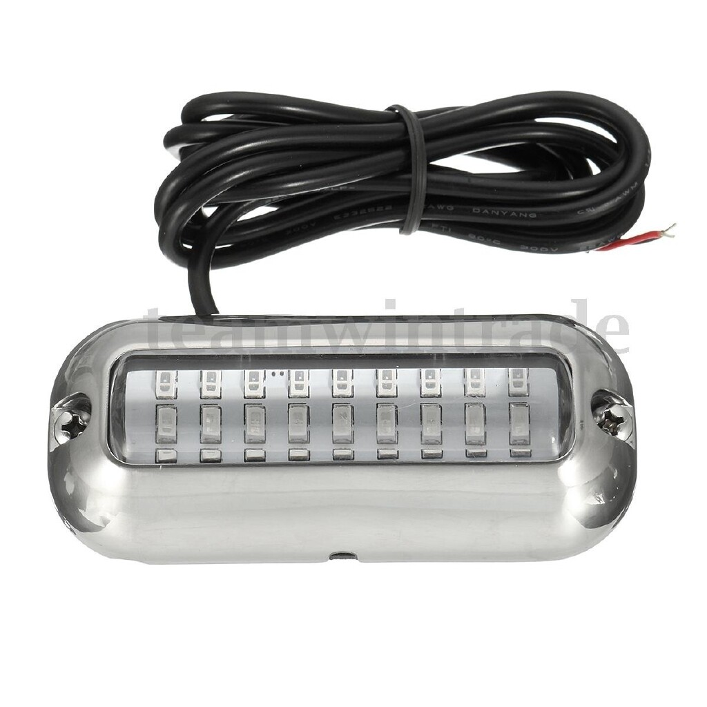 Lights & Lanterns - 3.5''Marine Boat White / Blue 27 LED Waterproof Cover Pontoon Boat Transom Light - Outdoor Adventure