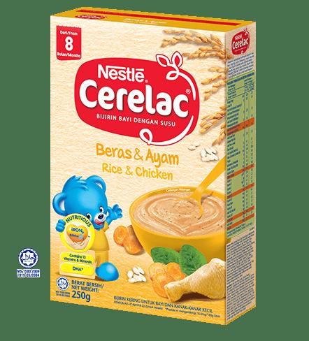 Nestle Cerelac Beras&Ayam /Rice&Chicken (8 months or above) 250g