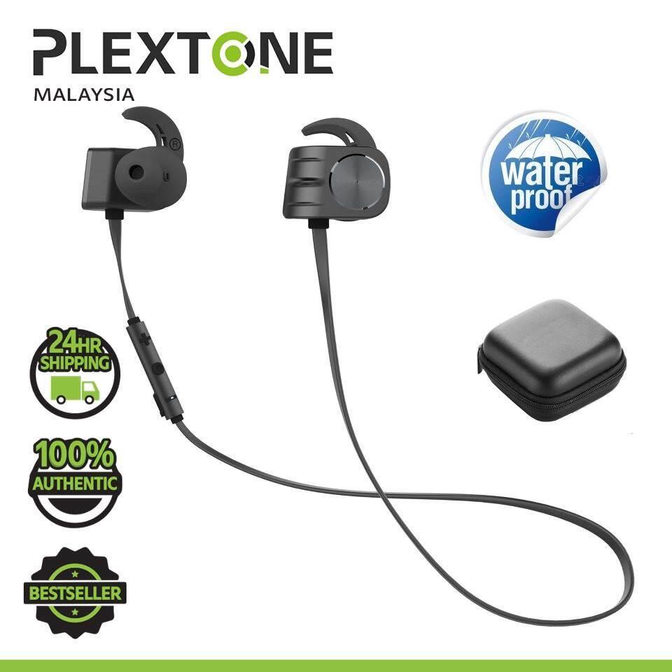 PLEXTONE BX338 Wireless Bluetooth Earphone IPX5 Waterproof Magnetic Dual Battery Workout Sports In-Ear Headphones with Microphone