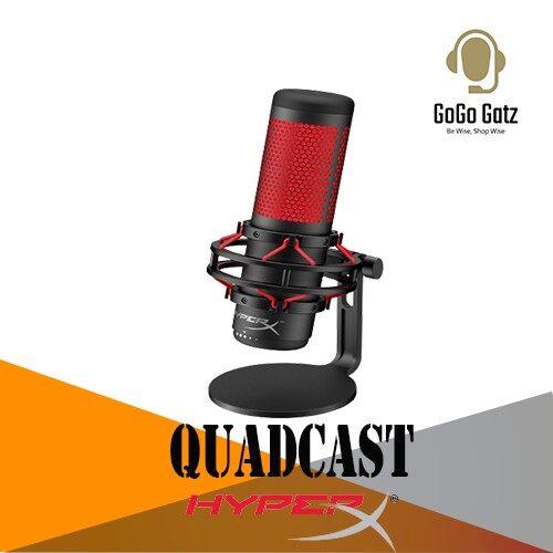{HX-MICQC-BK}{Ship Out Within 24 Hours} HyperX Quadcast RGB Lighting USB Gaming Microphone