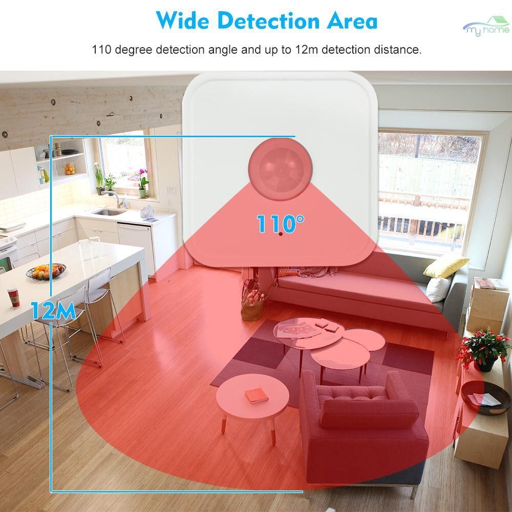 Sensors & Alarms - 433MHz WIRELESS PIR Sensor Passive Infrared Detector for Alarm Security System - WHITE
