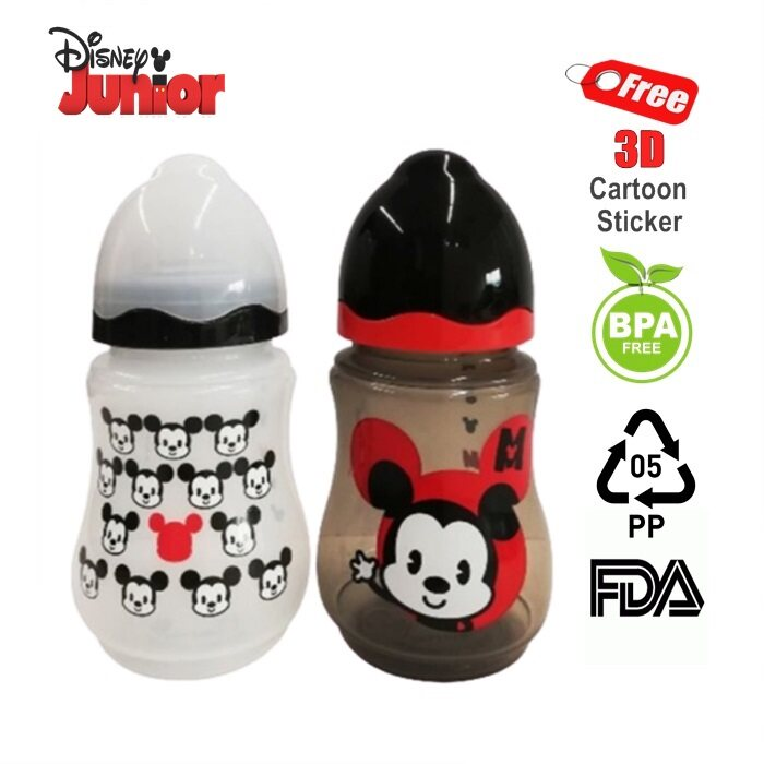 HAIRperone Disney Baby Mickey Limited Edition 9oz Wide Neck Milk Bottle [Twin Pack]