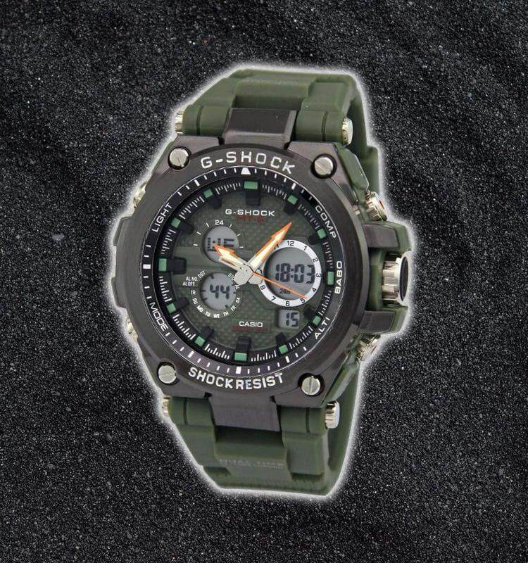 New Sport Casio_G-SHOCK_MTGE Shock Resistant Fully Stainless Steel & Good Quality Rubber Strip Dual Time Dual Time Display Fashion Casual Watch For Men Ready Stock 100% Mineral Glass New Design