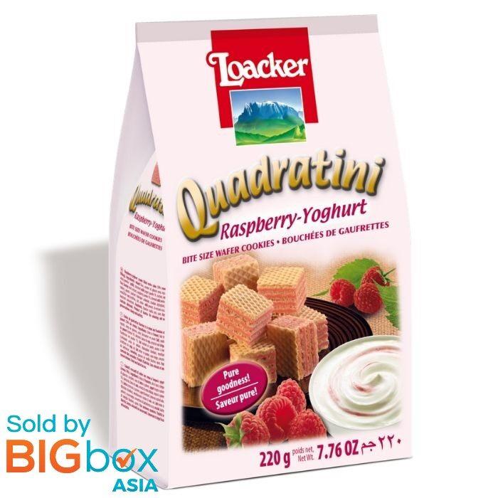 Loacker Quadratini Sandwich 220g - Raspberry Yogurt