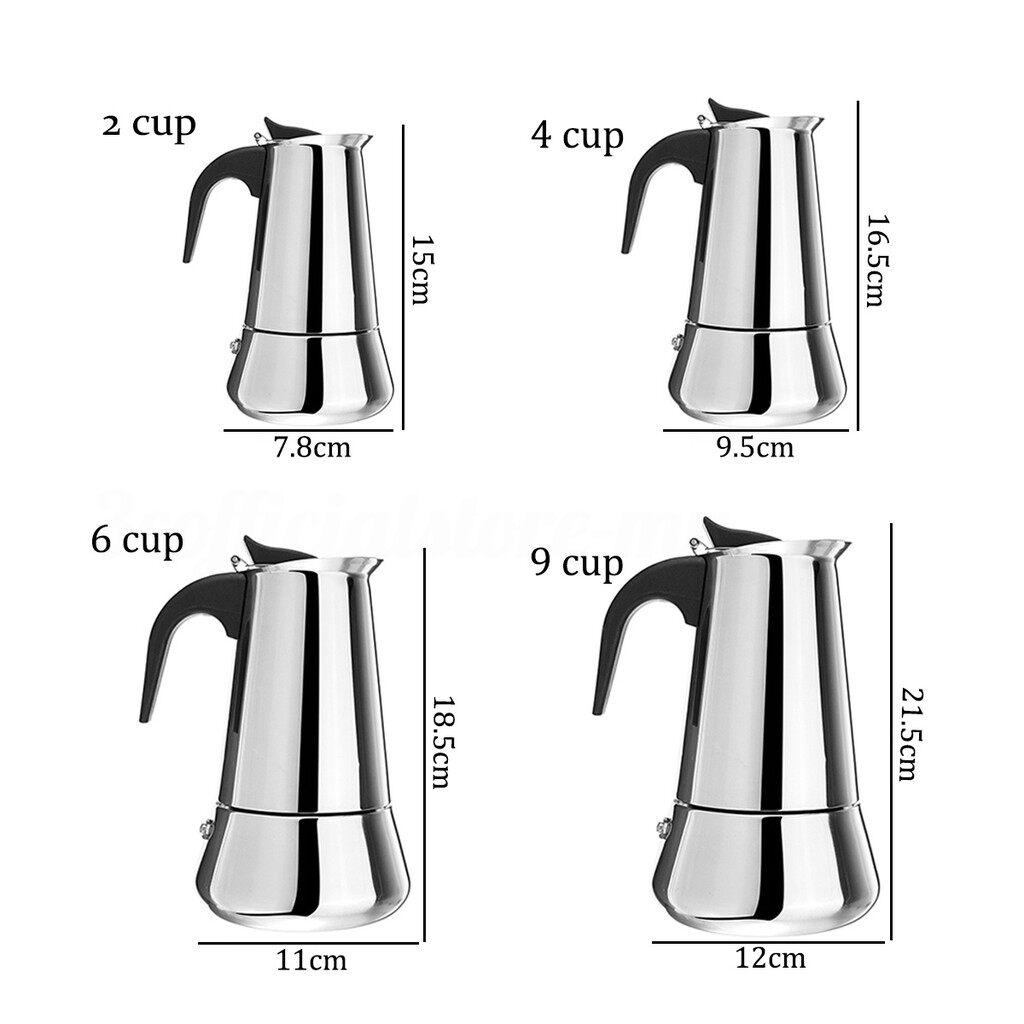 Coffee Machines and Accessories - Electric Espresso Coffee Maker Percolator Moka Pot Gift Home Kitchen DIY_3C - 9 PIECE(s) 450ML / 6 PIECE(s) 300ML / 4 PIECE(s) 200ML / 2 PIECE(s) 100ML