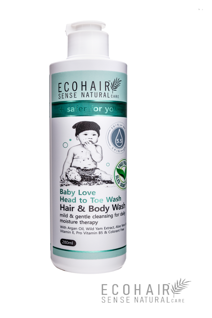 ECOHAIR Baby Love Hair & Body Wash 280ml