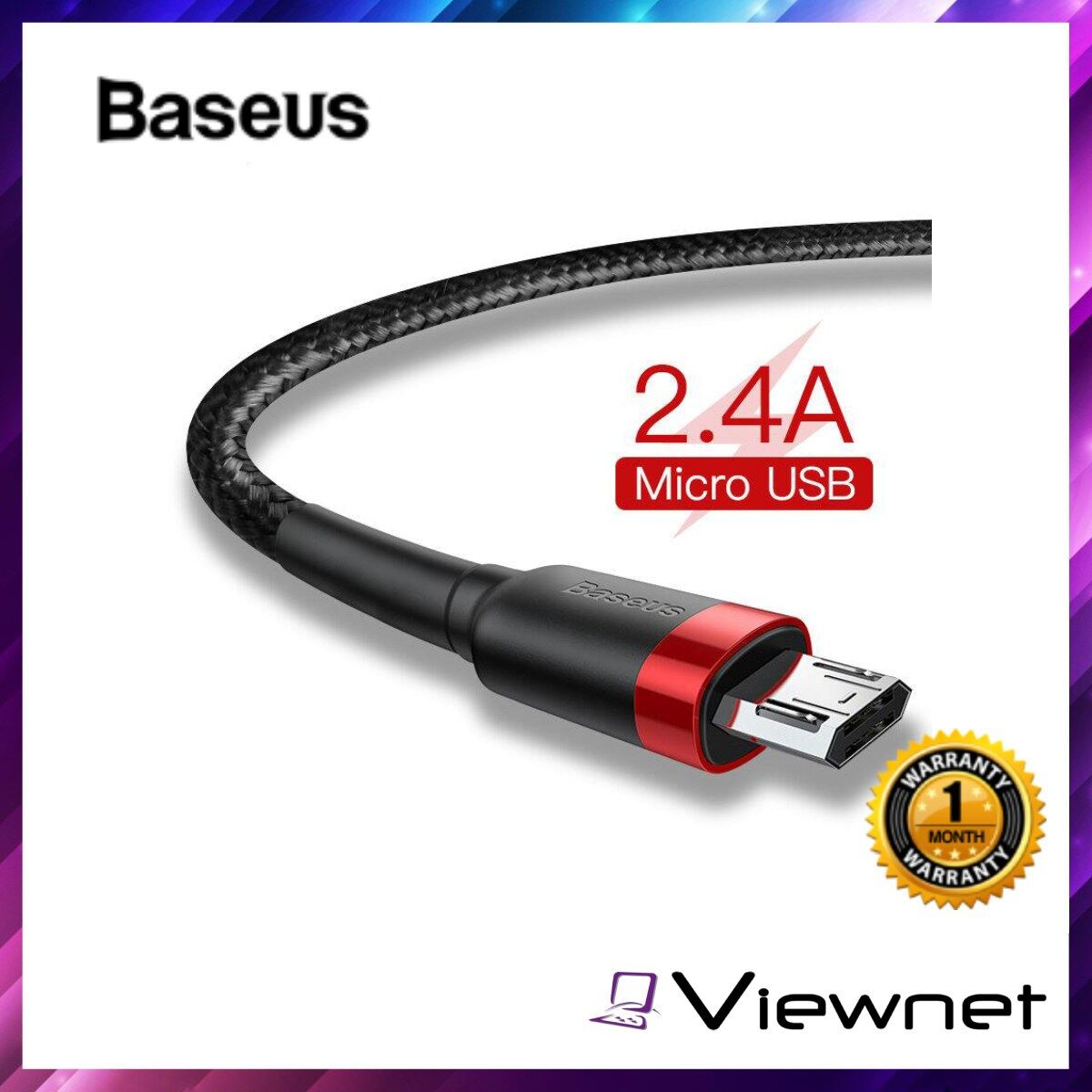 Baseus Micro USB Cafule Cable 0.5M / 1M / 2M USB, Aluminum Ally + TPE + HD Nylon Braided Wire, 480Mbps Transmission Speed