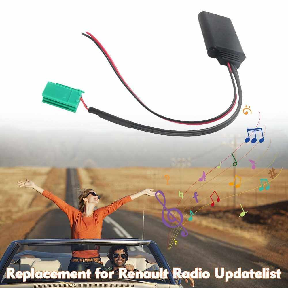 Car AUX Audio BT Adapter AUX-IN ISO 6Pin Replacement for Renault Radio Updatelist (Black)