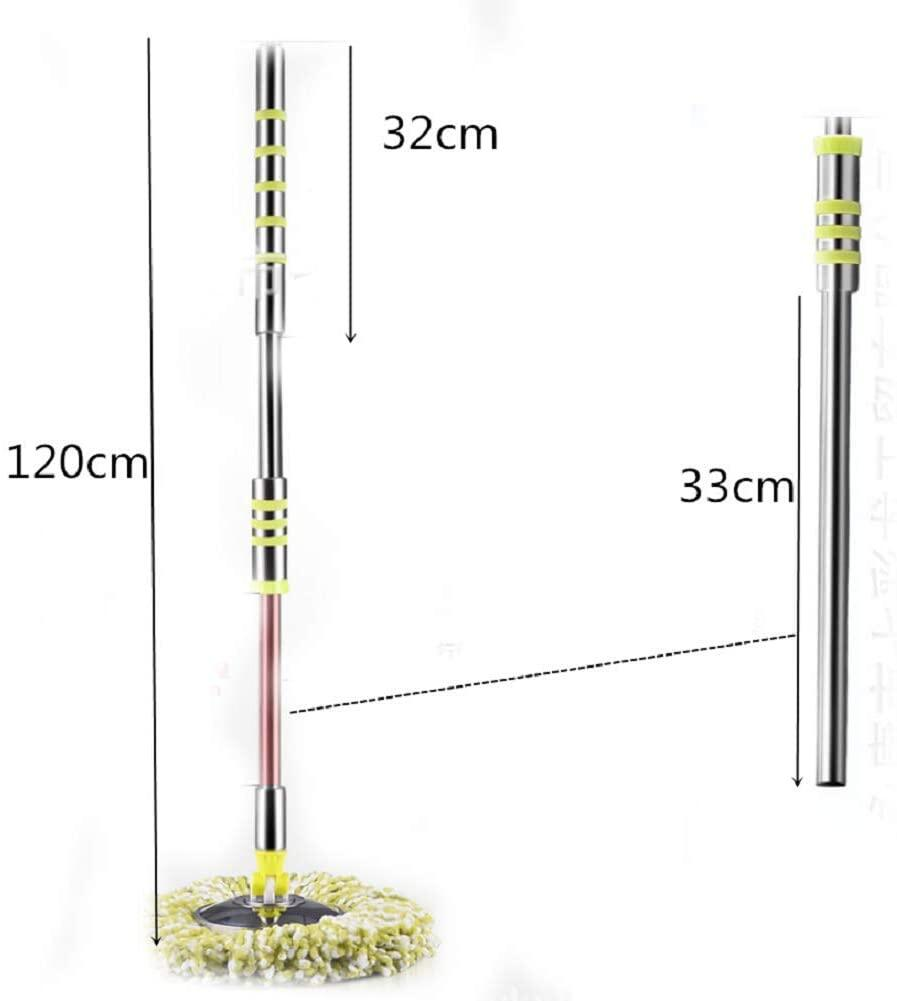 Heavy Duty Stainless Steel Spin Mop Press Pole Handle and Stainless Steel Mop Head Replacement