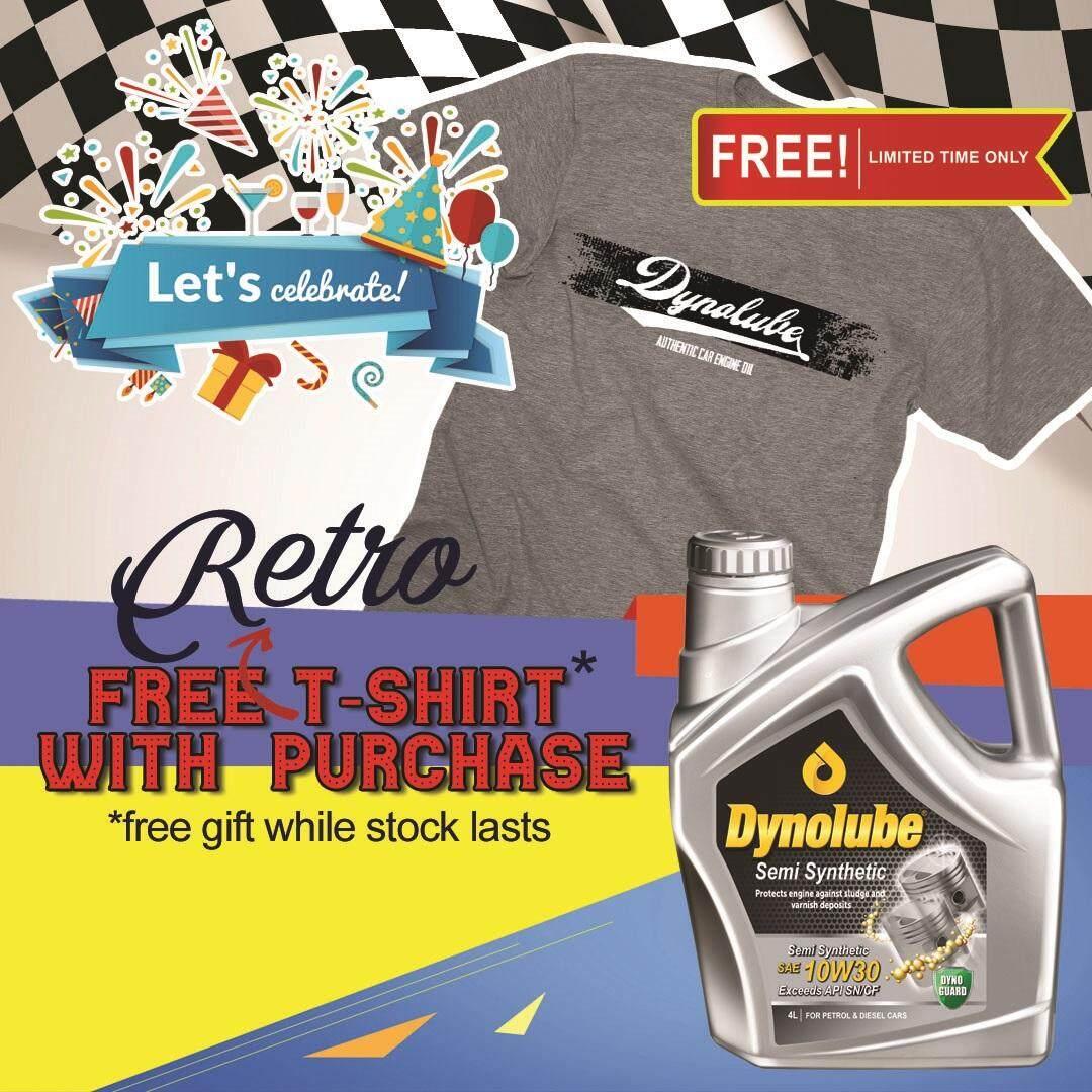 Dynolube 10W30 SN/CF Semi Synthetic 4Liter Engine Oil FREE 1 X T-Shirt (G)