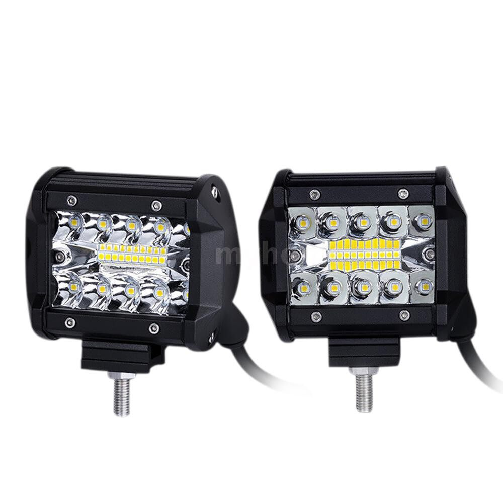Lighting - 4 Inch Tri-row LED Spot Beam Work Light Off Road Driving Lamp for Vehicle Truck Tractor ATV SUV - Home & Living