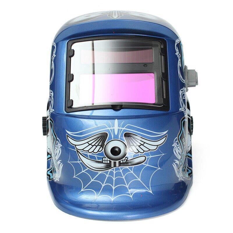 Moto Helmets -Style Solar Welder Mask AutoDarkening Arc Tig Welding Helmet Skull - Motorcycles, Parts & Accessories