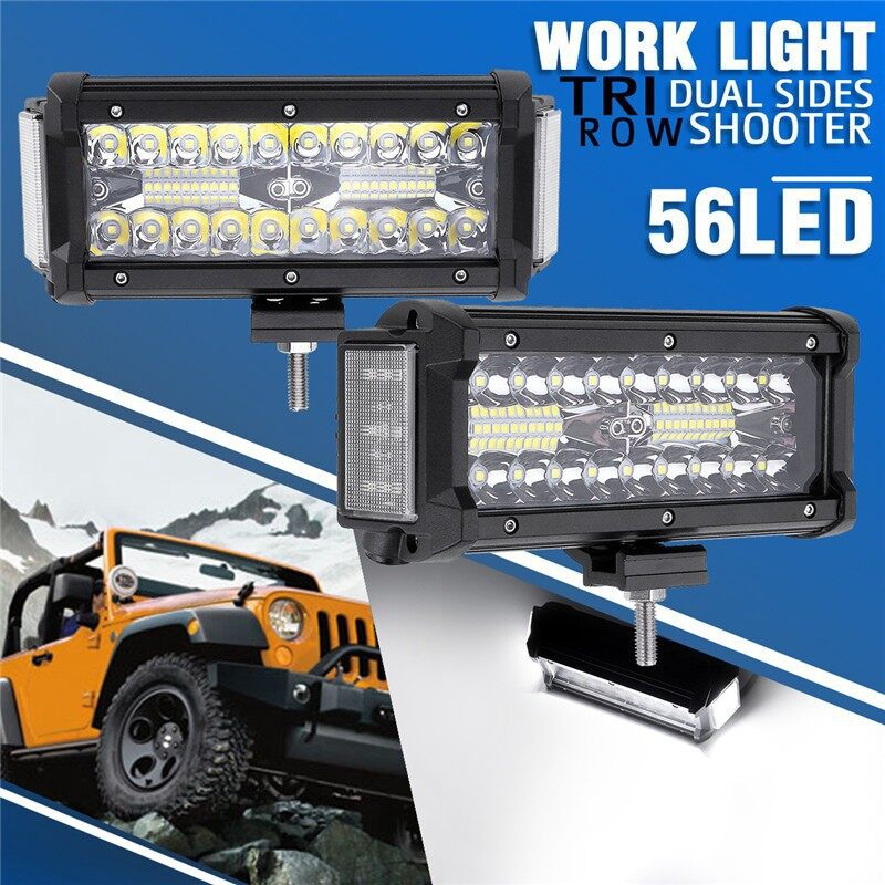 Car Lights - 7 Inch 360W Dual Side Shooter LED Work Light Bar Combo Offroad ATV - Replacement Parts