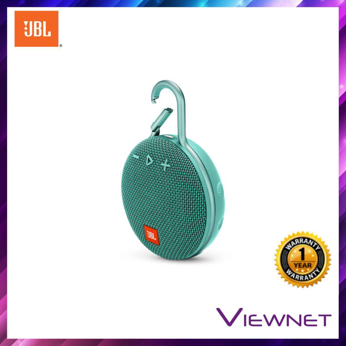 JBL Clip 3 Portable Bluetooth Speaker with 10 hours playtime, IPX7 Waterproof, Intergrated carabiner