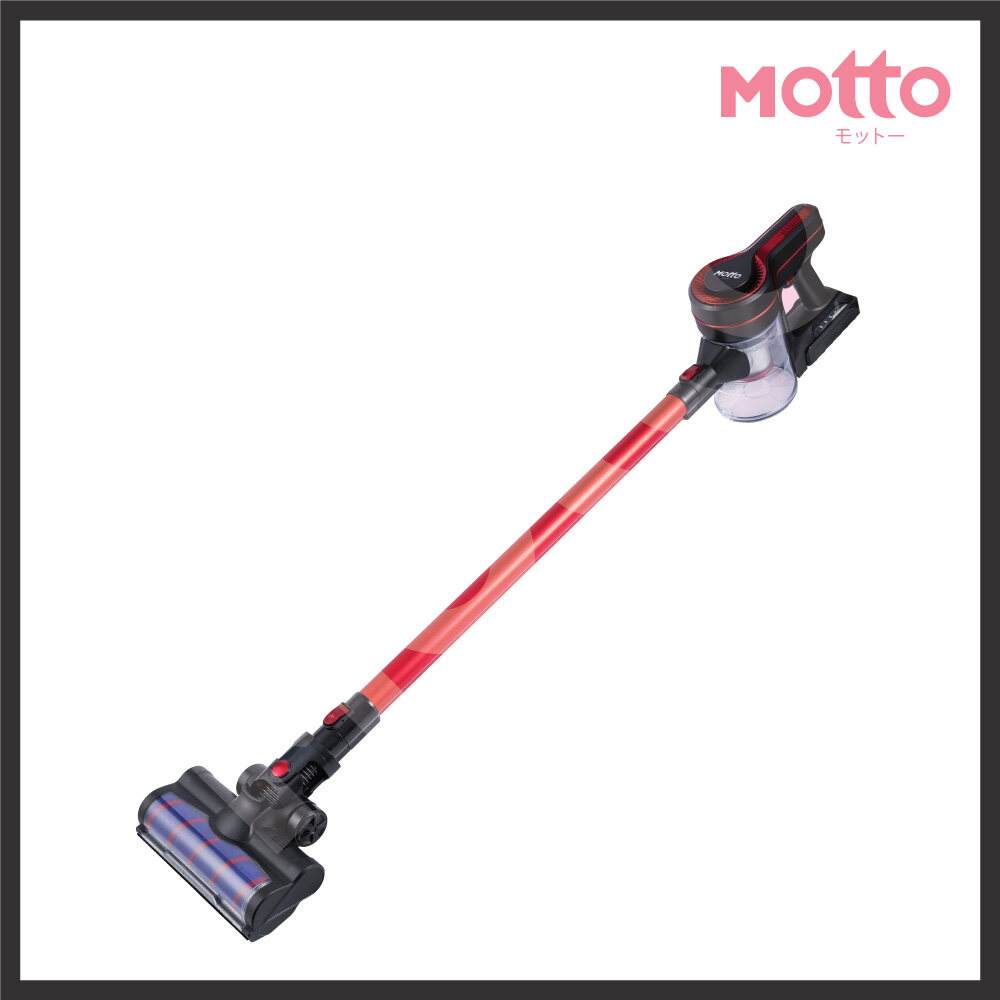 【Ready Stock In Malaysia】Motto Latest Japan Technology Luxvogue 2 In 1 Cordless Vacuum Cleaner 800ml Dust Bucket 130 Rotary Head& 2200 mah Battery & 70 db Quiet Operation & 9Kpa High Suction