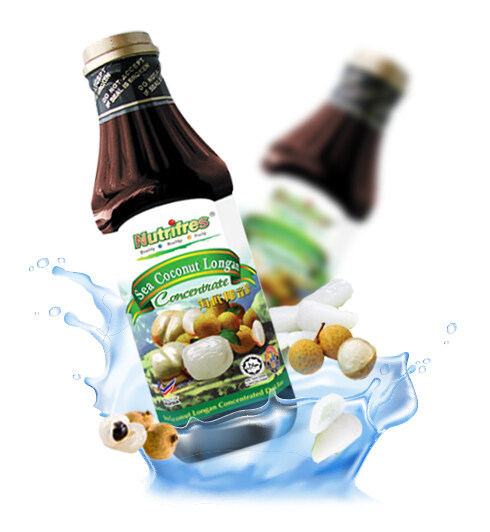 NutriFres Sea Coconut with Longan Concentrate / Cordial 1L