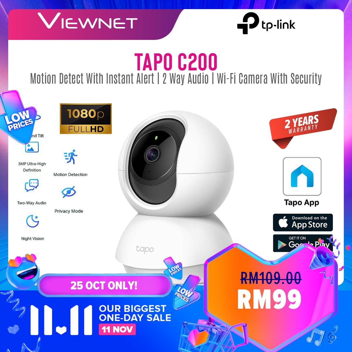 TP-Link Tapo C200 A.K.A TC70 1080P Full HD Pan / Tilt Wireless WiFi Home Security Surveillance IP Camera