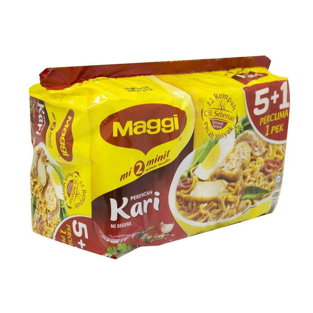 MAGGI INSTANT NOODLES CURRY KARI (5 Packs x 79g) READY STOCK