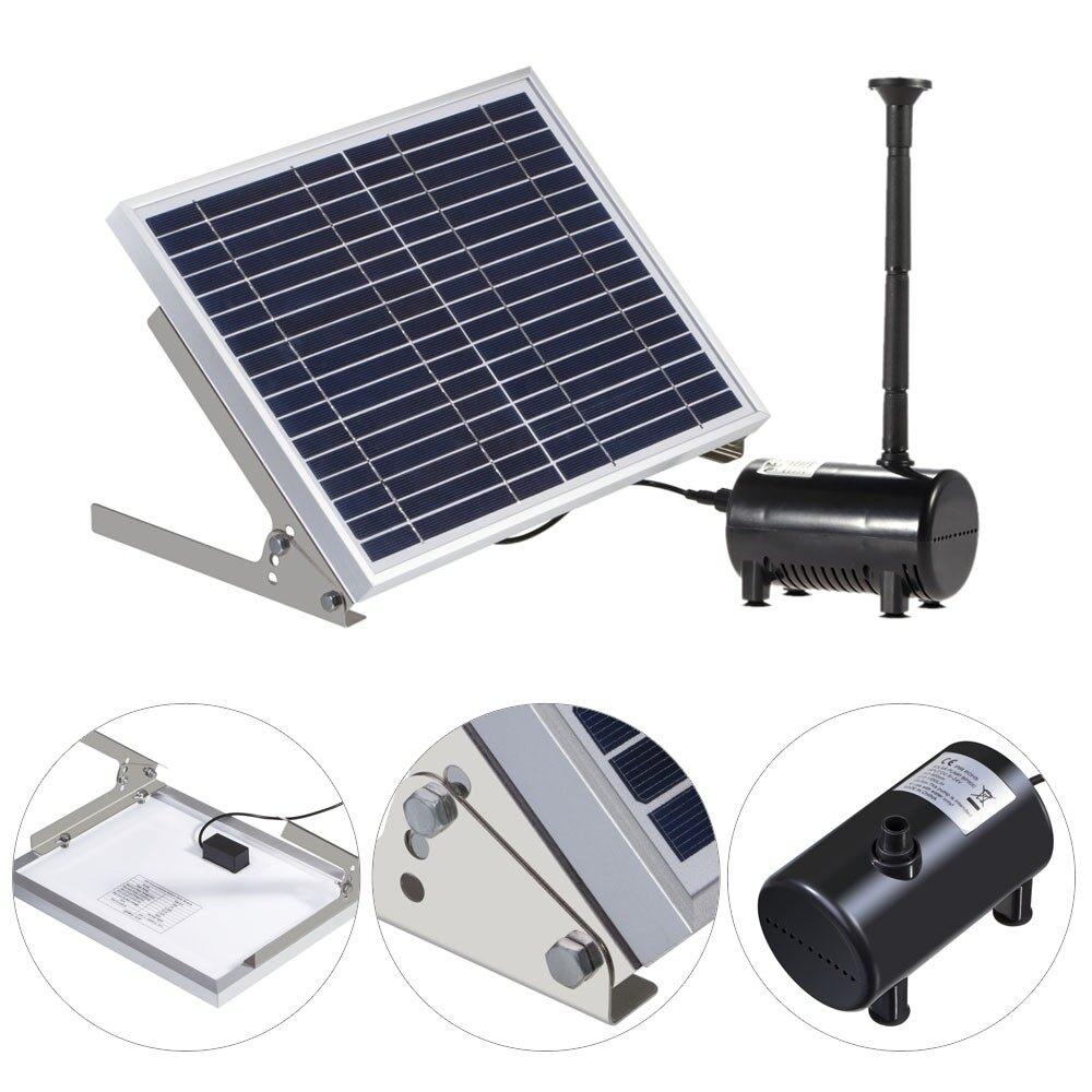 Outdoor & Garden - High-power Solar Landscape Fountain 17V 10W Equipment Solar Water Pump - Home Improvement