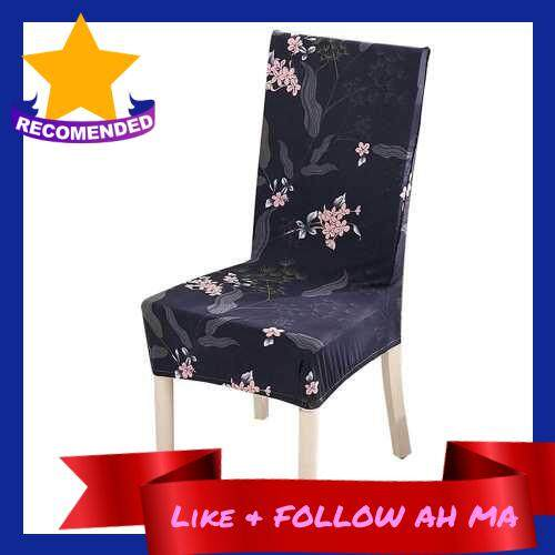 Best Selling Printed Chair Cover Soft Milk Silk Home Seat Protector Stretch Anti Dust (Blue)