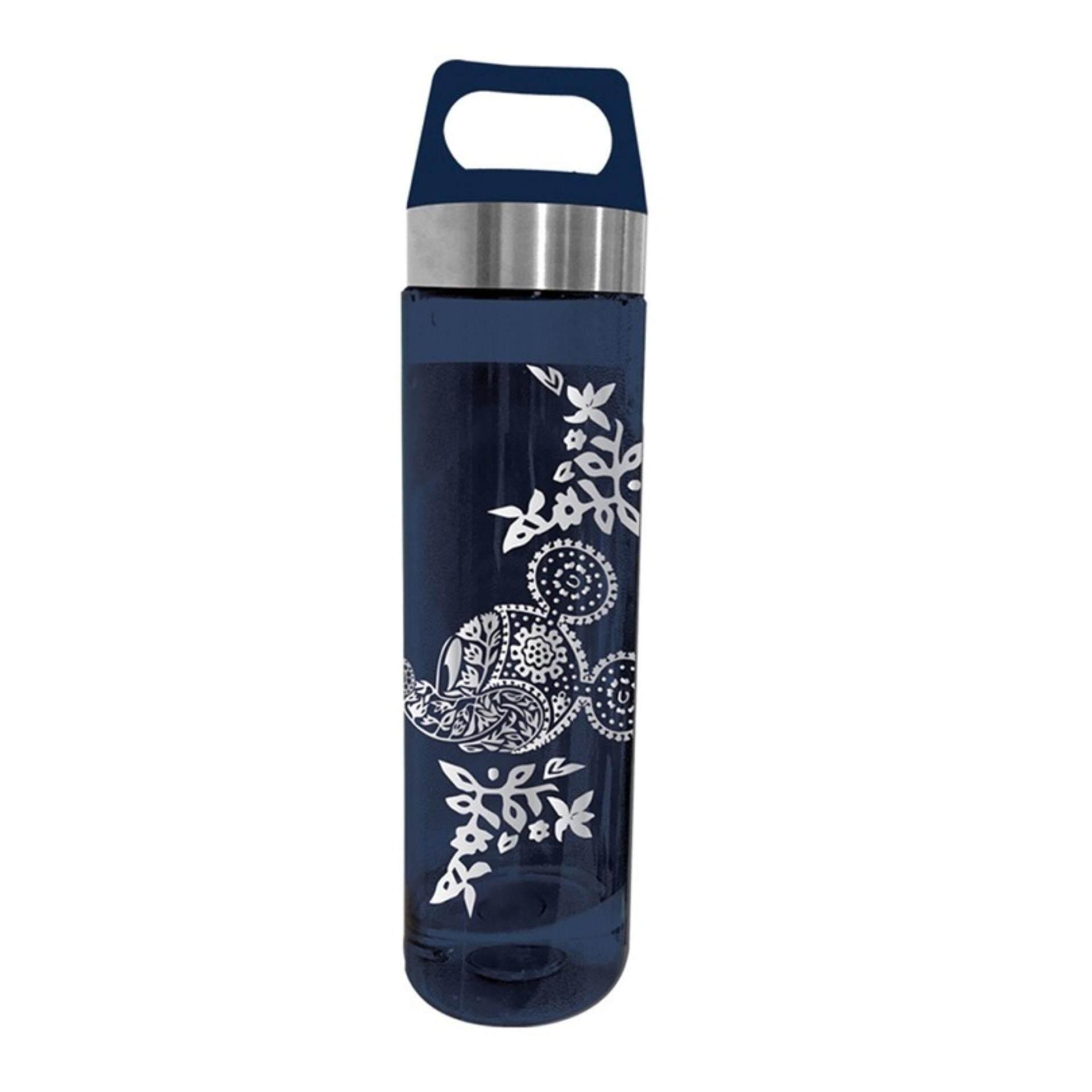 Disney Mickey Go Local Icon BPA Free 650ML Tritan Bottle - Blue Batik