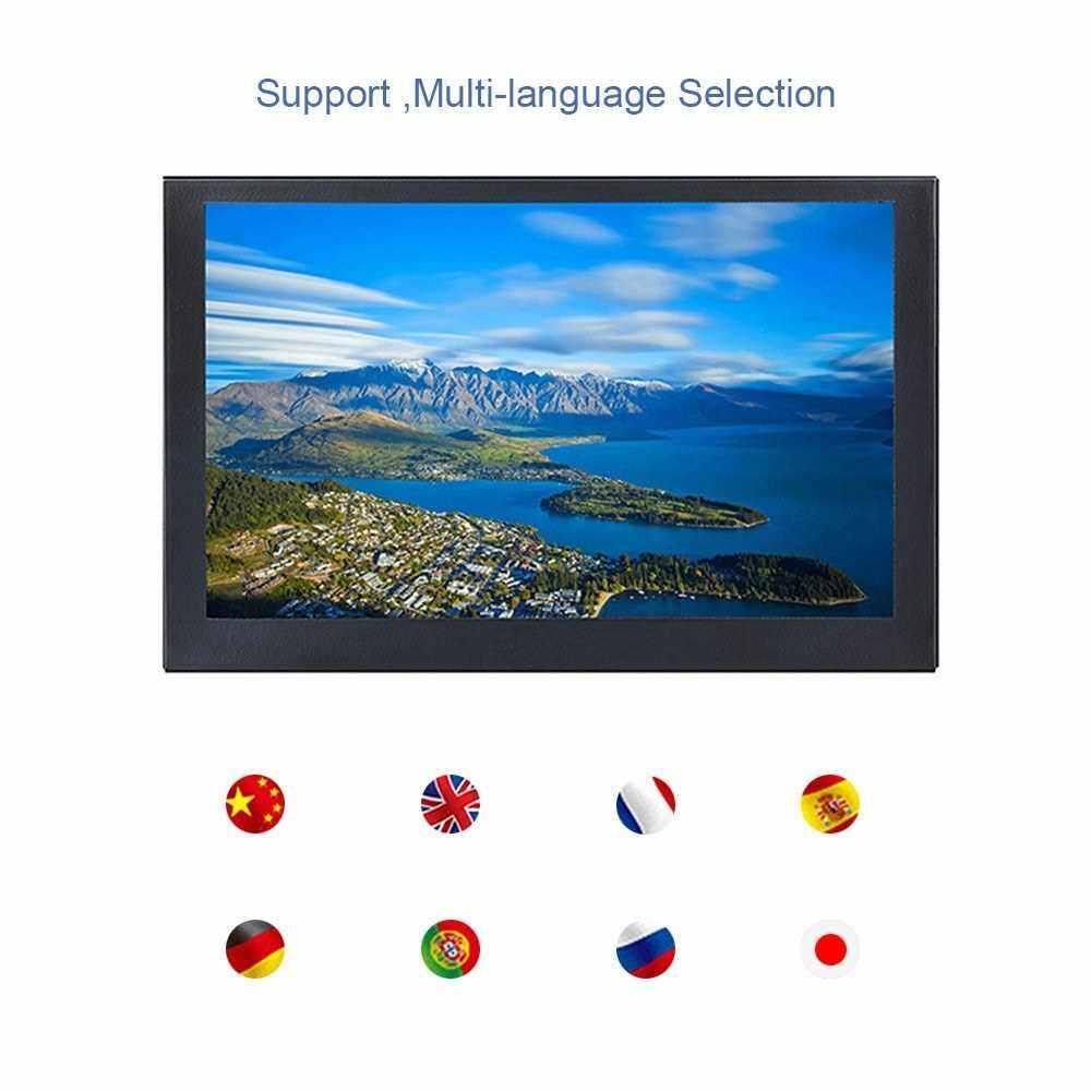 S501H Mini 5inch Monitor 5CH VGA/BNC/AV/HD/Ypbpr LCD Display Screen 800 * 480 Cross Line for DVR, DVD, PC, CCD, CCTV, Camera US Plug (Black)
