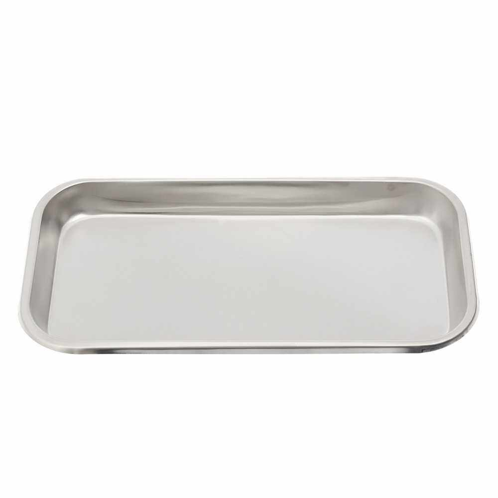 Stainless Steel Surgical Dental Instrument Bending Tray Disinfection Plate For Eyebrow Lip Tattoo Sterilization (Other)