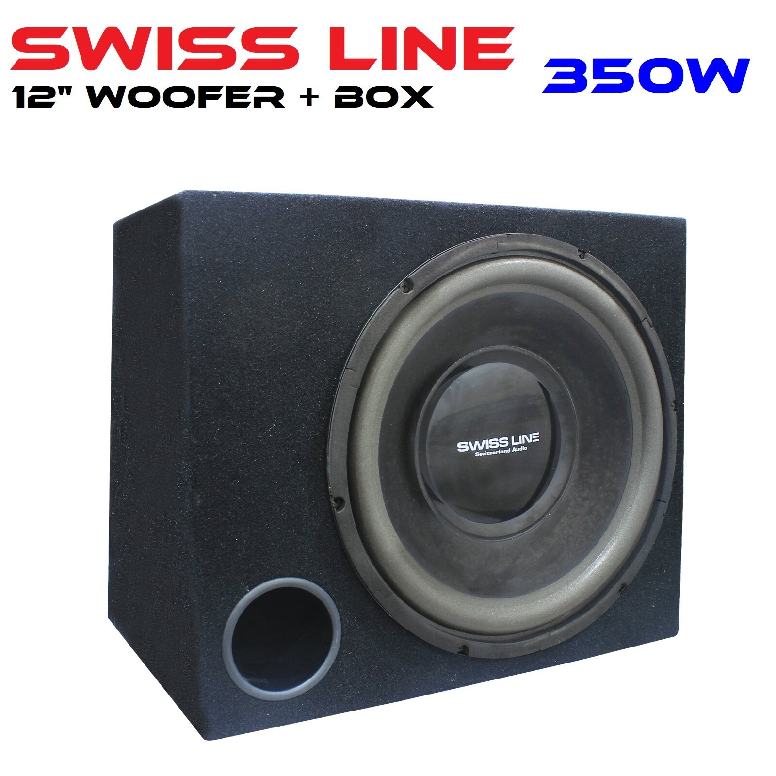 SWISS LINE 12S4 12inch Car Woofer Box Speaker Single Coil Single Magnet 350 Watts 12
