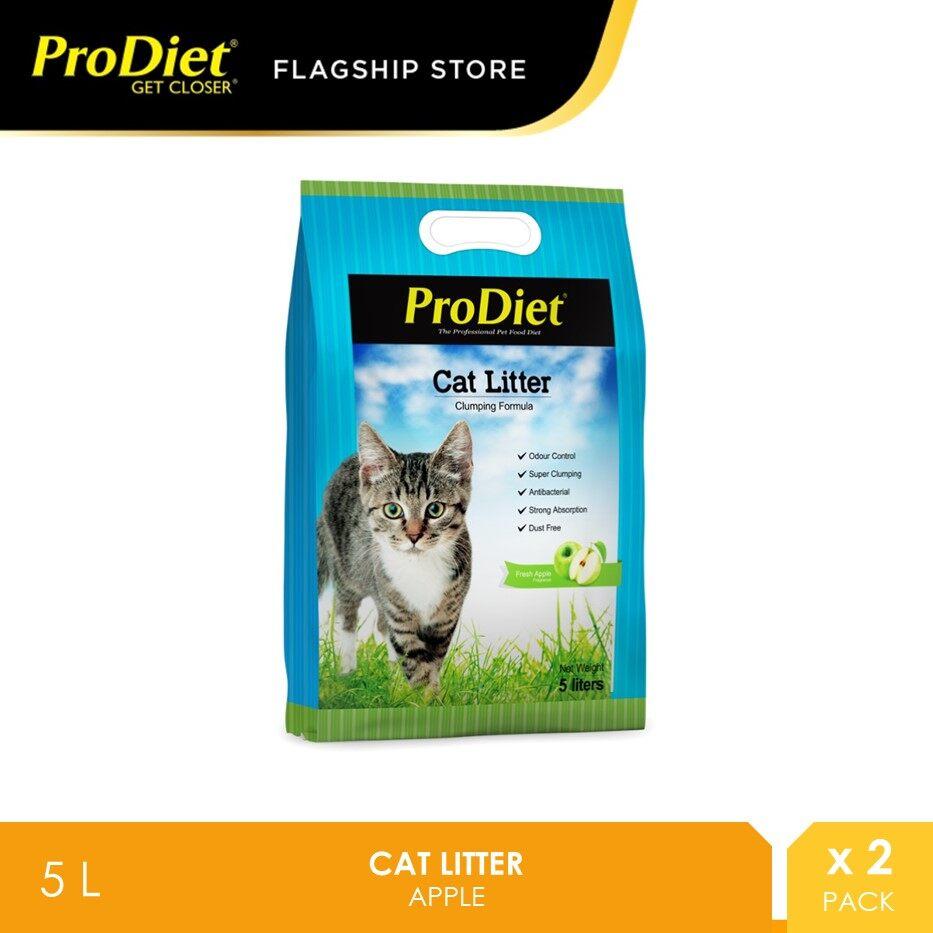 ProDiet Cat Litter 5L - Apple X 2 Packs [pasir kucing]