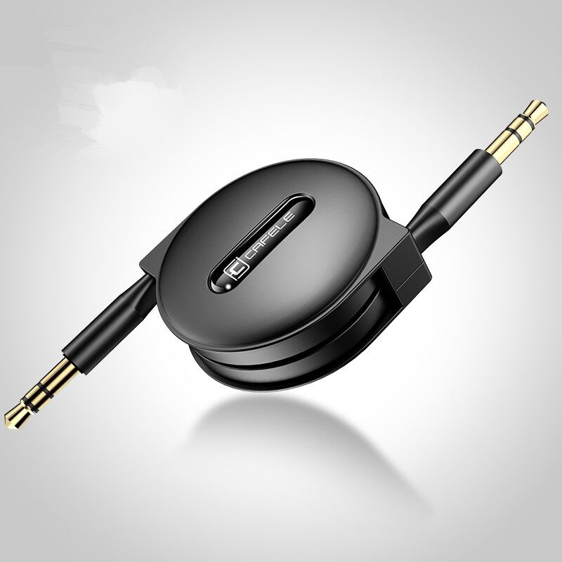 Mobile Cable & Chargers - Male to Male Jack 3.5mm Gold Plated Headphone Car AUX Audio - BLACK / WHITE