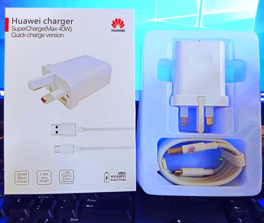 100% ORIGINAL HUAWEI 40W TYPE-C  [ Super Fast Charger ]